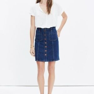 Madewell Button Up Denim Skirt size 27